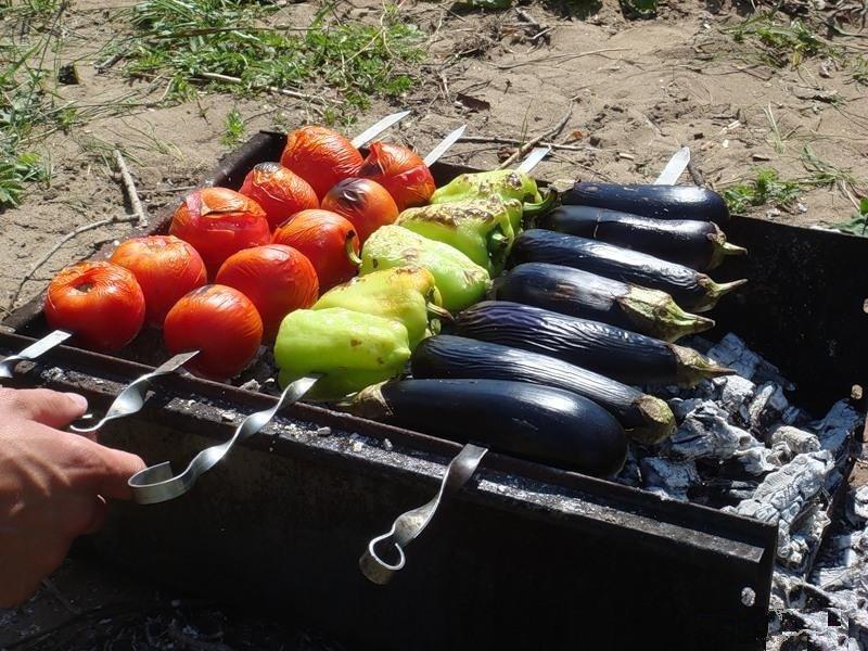 Как приготовить баклажан на костре