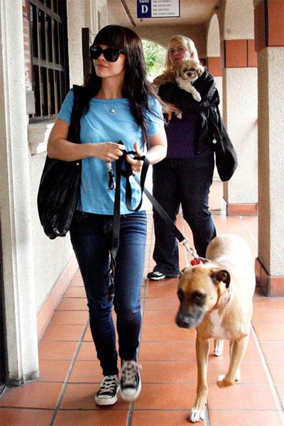 Кристина Риччи с собакой
