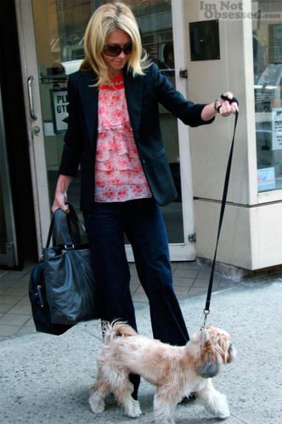Келли Риппа с собакой