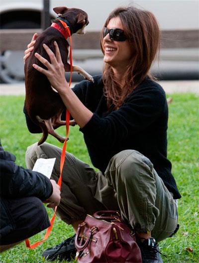Элизабетта Каналис и ее собака