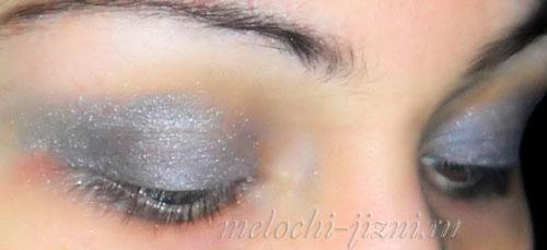 макияж серыми и черными тенями фото