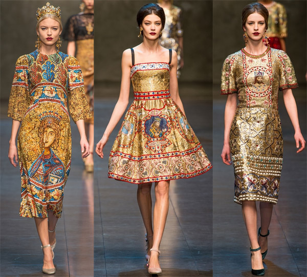 Коллекция платьев от dolce