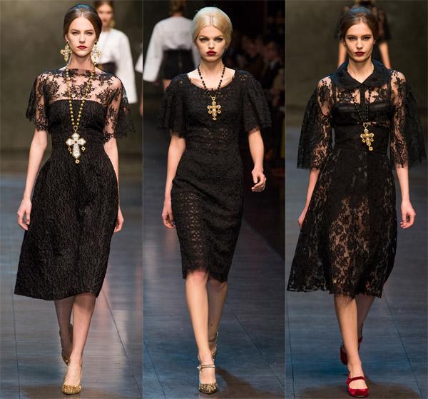 Черные платья дольче габбана 124