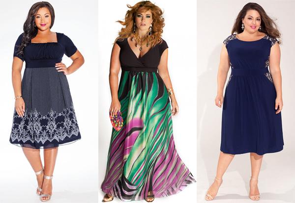 Для полной девушки модное платье